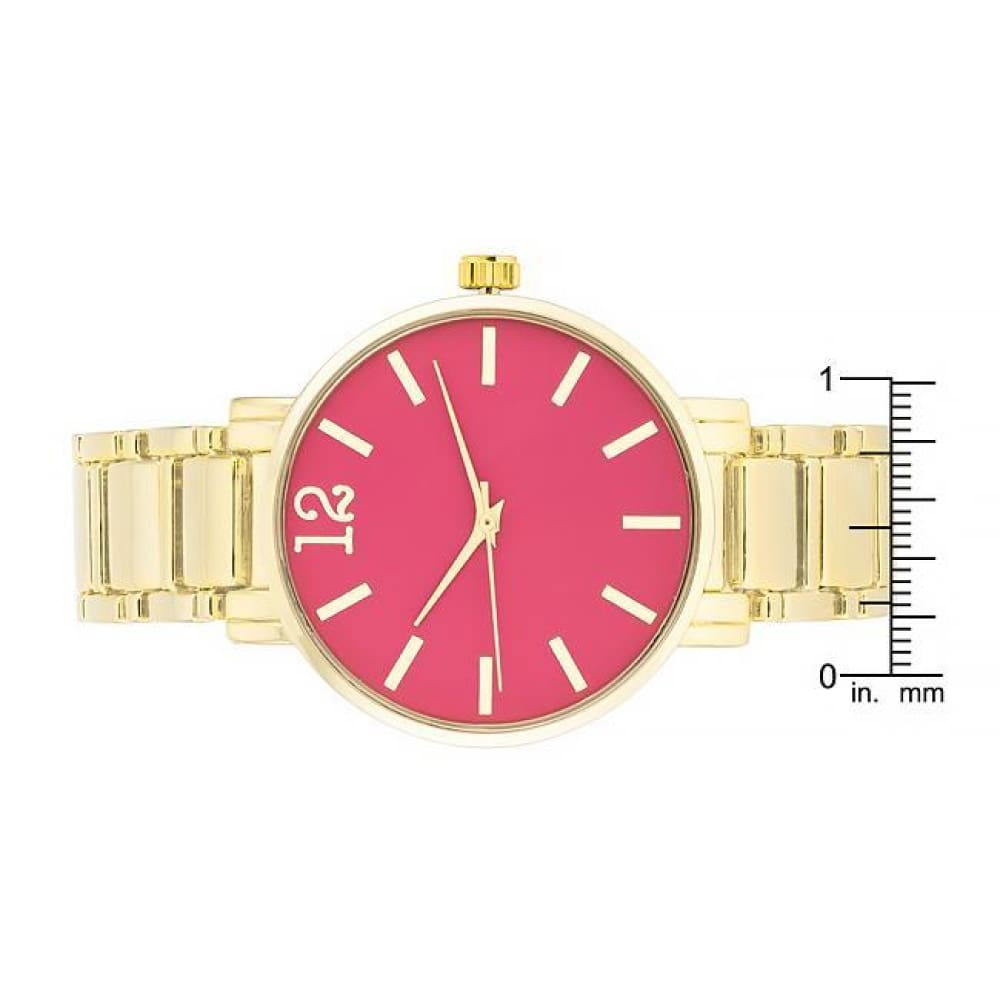 Watches $31.00 Gold Metal Watch - Pink