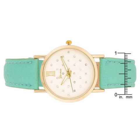 Watches $27.00 Gold Mint Leather Watch