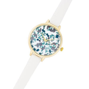 Watches $25.00 Gold Watch With Floral Print Dial
