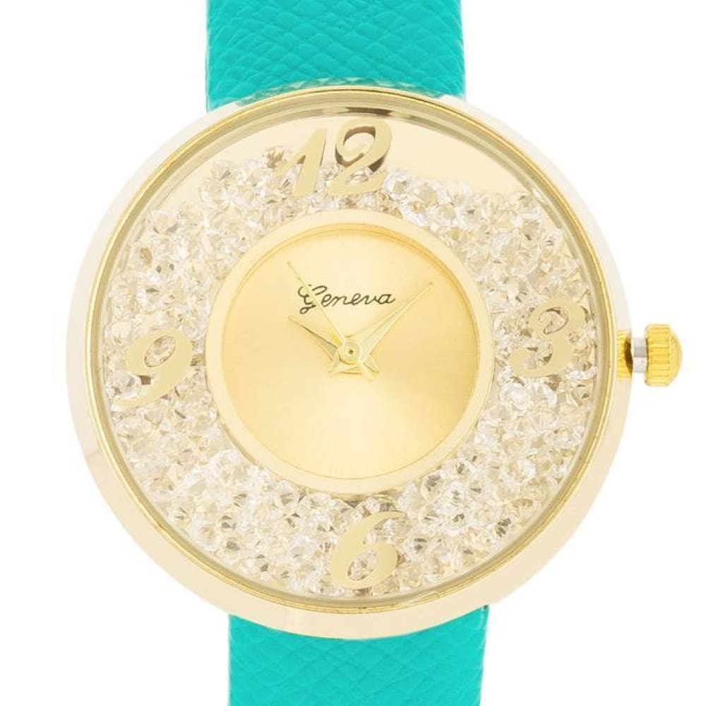 Watches $27.00 Gold Watch With Leather Strap