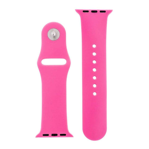 Watches $27.00 Hot Pink Silicone Sports Watch Band 38mm 42mm for Apple Watch 1 2 3 4 Pink