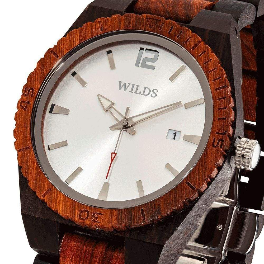 Watches $87 Men's Custom Engrave Ebony & Rose Wooden Watch - Personalize Your Watch men's fashion, men's watches