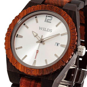 Men's Custom Ebony & Rose Wooden Watch - Wood Band Watch