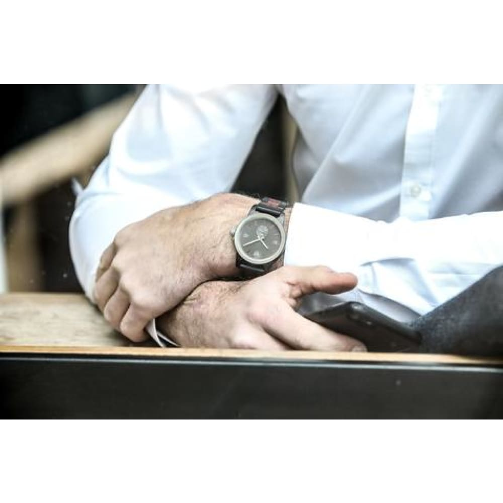 Watches $87 Men's Handcrafted Engraving Ebony & Rose Wood Watch - Best Gift Idea! men's fashion, men's watches