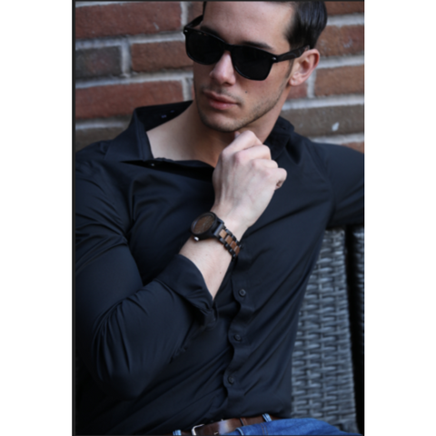 Watches $75 Men's Handmade Walnut Wooden Timepiece - Personal Watch with Wood Band 50-100, men's fashion, men's watches, watches