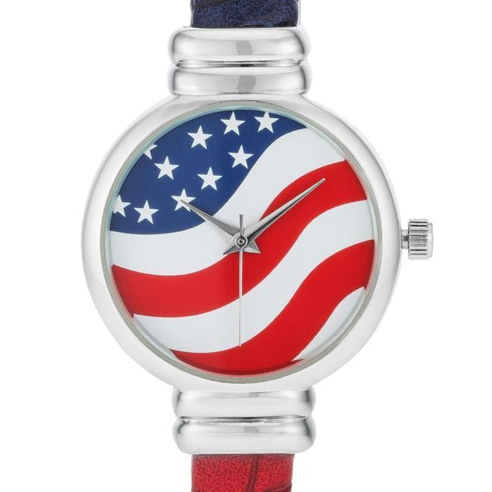 Watches $28.00 Patriotic Cuff Watch In Red