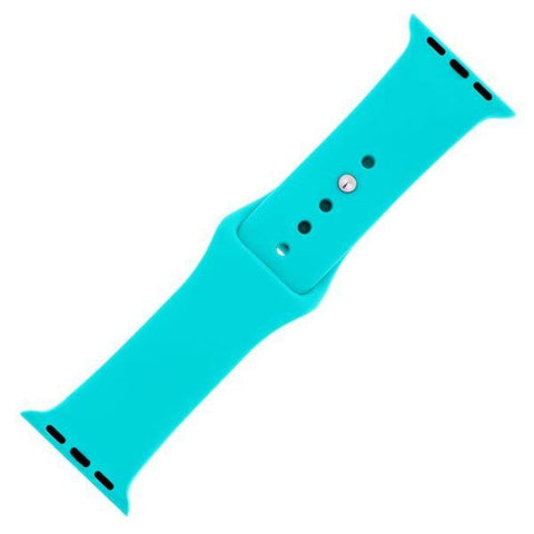 Watches $27.00 Totally Turquoise Silicone Sports Watch Band 38mm 42mm for Apple Watch 1 2 3 4 25-50 blue size-38mm vet watches