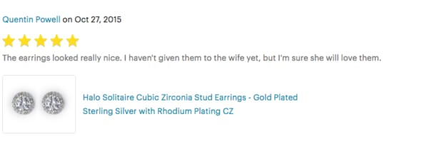 cubic zirconia halo earrings review