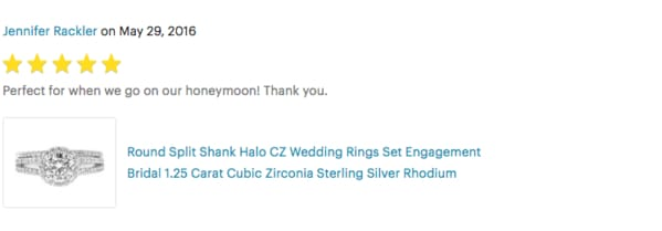 cubic zirconia matching wedding bridal set review