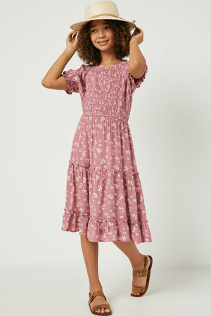 Hayden Girls Mauve Floral Dress