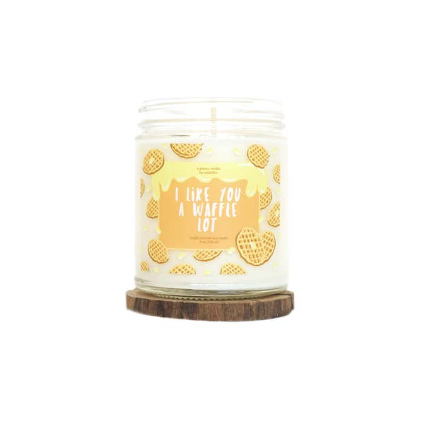 Candelles Punny Waffle Lot Soy Candle