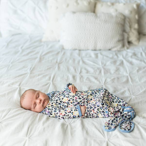Little Sleepies Leopard Knotted Gown