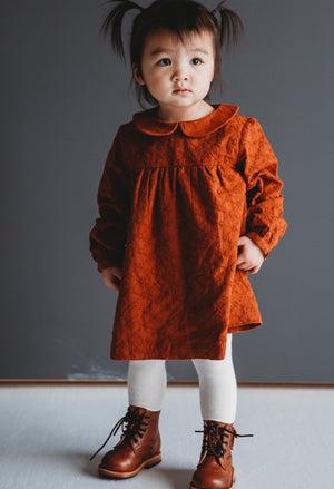 Ren & Rouge Burnt Orange Collared Dress