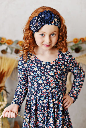 Serendipity Navy Bloom Butter Knit Set