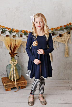 Serendipity Navy Pocket Dress & Legging Set