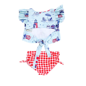 Blueberry Bay Pier House 2 piece Swimsuit