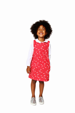 Smiling Button Ruler Tunic Dress