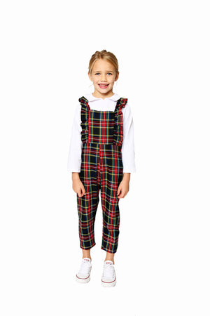 Smiling Button Blackwatch Plaid Flutterall