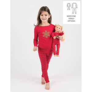 Leveret Snowflake PJs' With Matching Doll PJ's