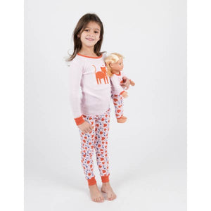 Leveret Kitty Cat PJ'S With Matching Doll PJ'S
