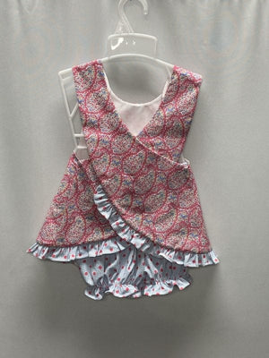 Three Sisters Raspberry Paisley Cross Back Bloomer Set