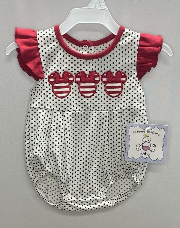 Three Sisters Girls Sailboat Applique Bubble-6 months