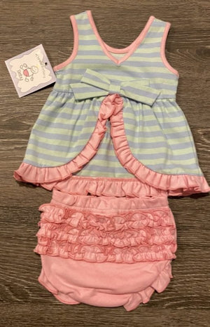 Three Sisters Baby Piggy Bloomer Set
