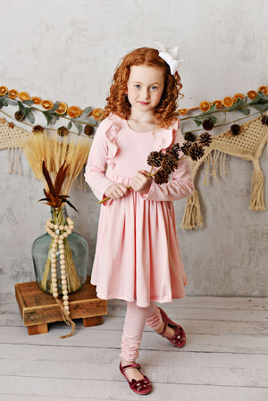 Serendipity Soft Blush Pink Bella Knit Dress