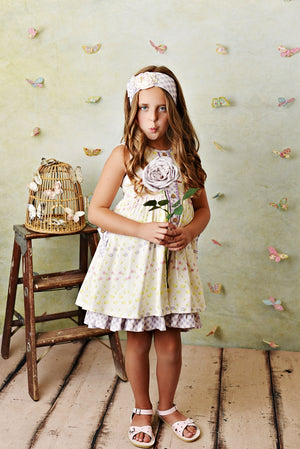 Serendipity Lemon Bloom Dress with Shorties