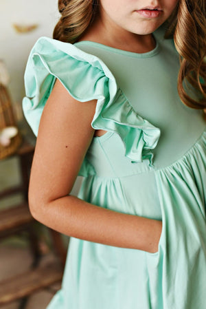 Serendipity Bella Pocket Dress Seafoam