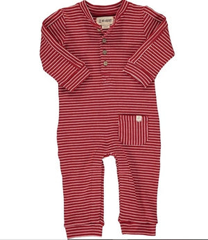 Me & Henry Red Stripe  Romper