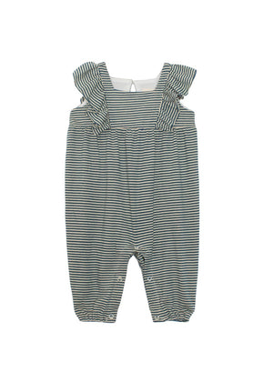 Mabel & Honey Tiny Stripe Flutter Romper