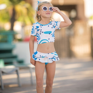 Blueberry Bay Haven Blue Two Piece Swimsuit