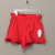 Paper Flower Red Knit ruffle Short