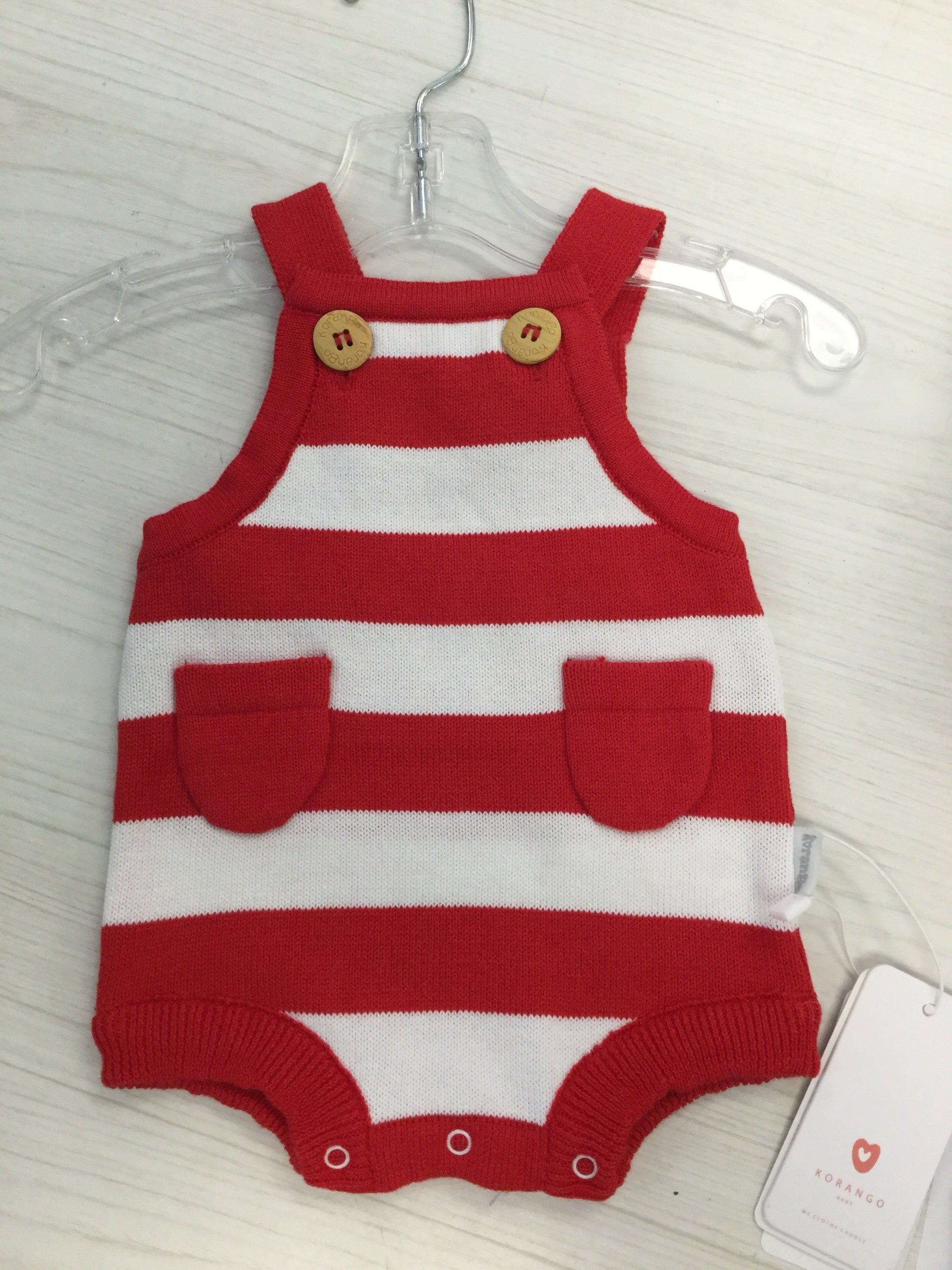 Korango Red Stripe Sunsuit