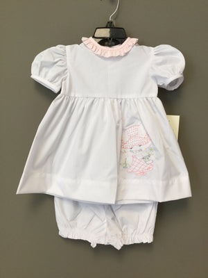Mary Mary White Bunny Embrodiery Dress