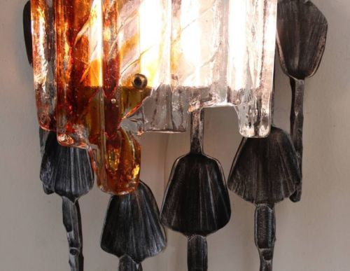 Sensational Brutalist Wall Sconce By Tom Ahlström & Hans Ehrlich - Art Deco Antiques  - 2