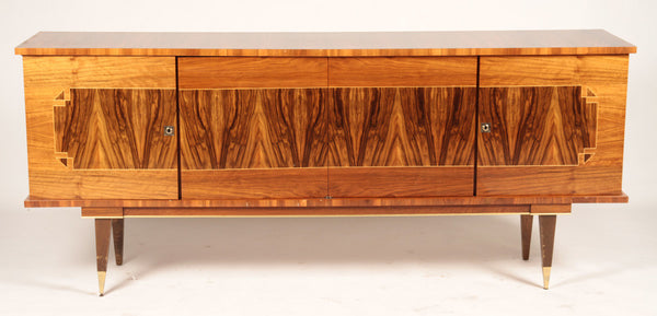Luxe French Art Deco Buffet / Sideboard In Blonde Macassar Ebony - Art Deco Antiques  - 1