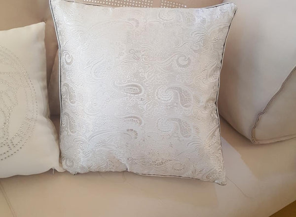 Silver Decorative Pillows