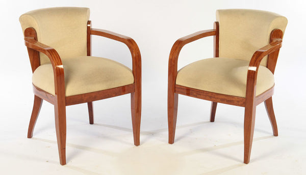 Pair Of Art Deco Open Arm Chairs - Art Deco Antiques  - 1