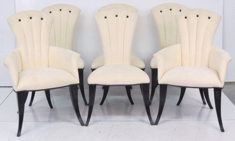 Impressive Set Of Six (6) Art Deco Style Dining Armchairs - Art Deco Antiques  - 1