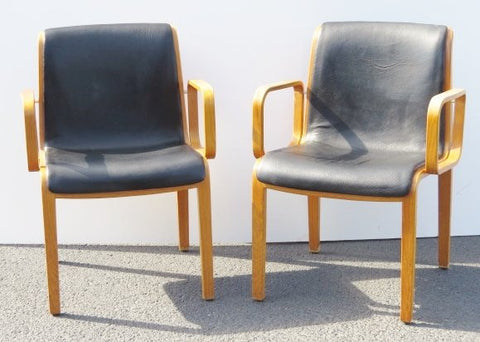 Pair Of Plyform Armchairs By Knoll - Art Deco Antiques  - 1