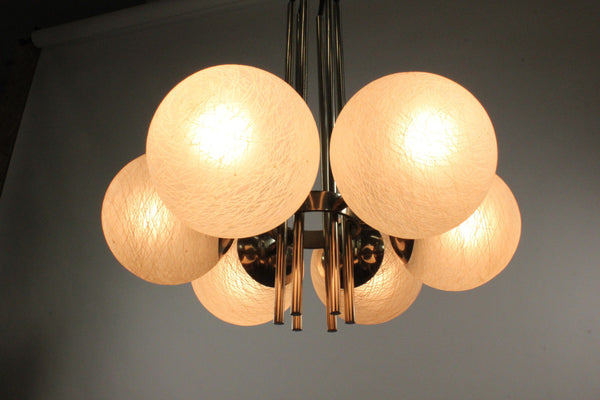 Mid-Century Modernist Sputnik Pendant Light - Art Deco Antiques  - 8