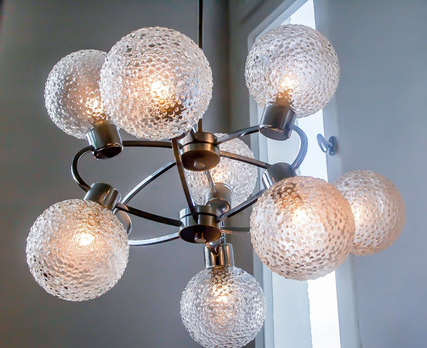 Superb 1970's Mid-Century Modernist Atomic Sputnik Chandelier - Art Deco Antiques  - 4