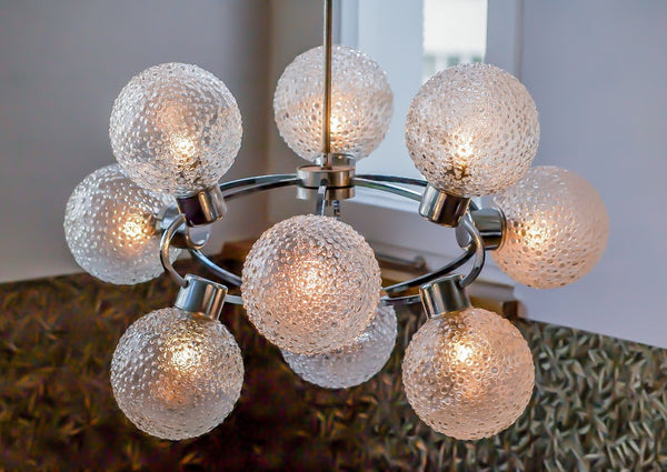 Superb 1970's Mid-Century Modernist Atomic Sputnik Chandelier - Art Deco Antiques  - 2