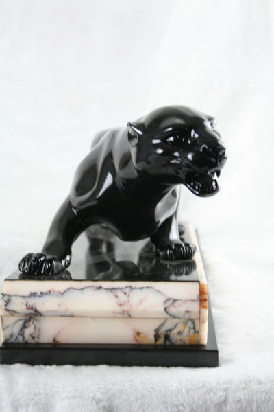 Captivating Art Deco Panther Sculpture By Guy Debe - Art Deco Antiques  - 3
