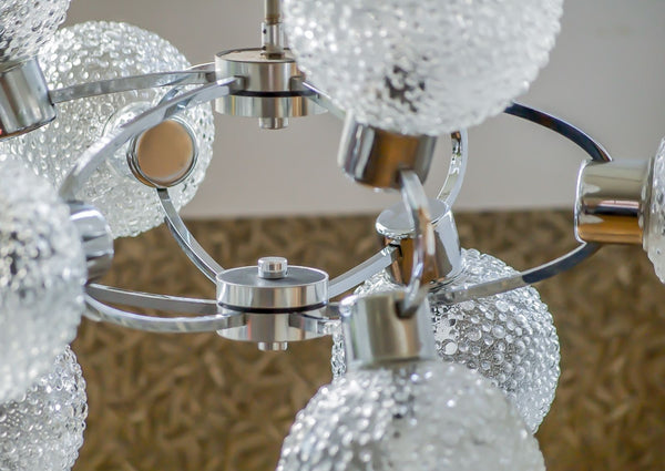 Superb 1970's Mid-Century Modernist Atomic Sputnik Chandelier - Art Deco Antiques  - 5