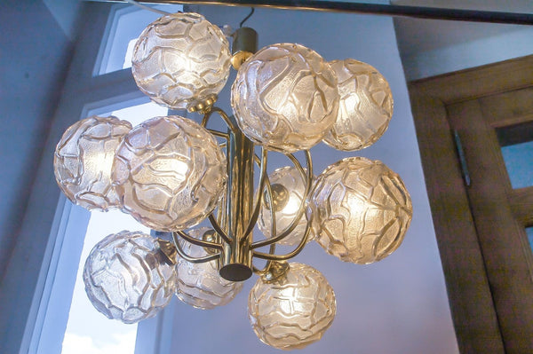 Exquisite Mid-Century Modernist Chandelier - Art Deco Antiques  - 3
