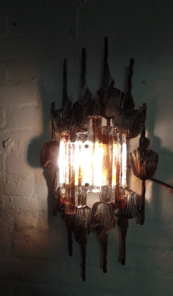 Sensational Brutalist Wall Sconce By Tom Ahlström & Hans Ehrlich - Art Deco Antiques  - 6