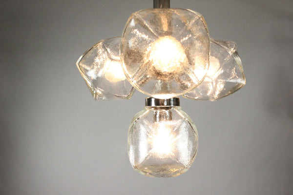 Beautiful Mid-Century Modernist 1960's Pendant Chandelier By Motoko Ishii - Art Deco Antiques  - 7